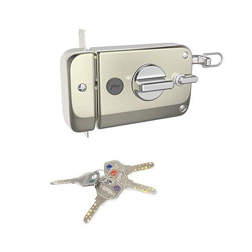 Godrej Locks Ultra XL+ Twinbolt -1 CK Satin Nickel - Inside opening