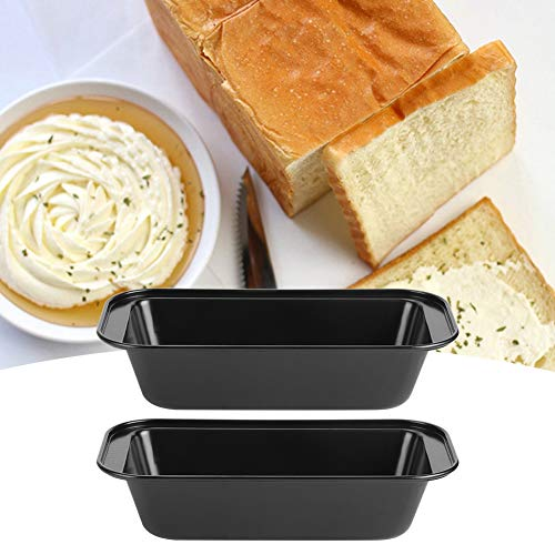 Toast Tins Rectangle Loaf Pan for Pastry(Black TG02#A)