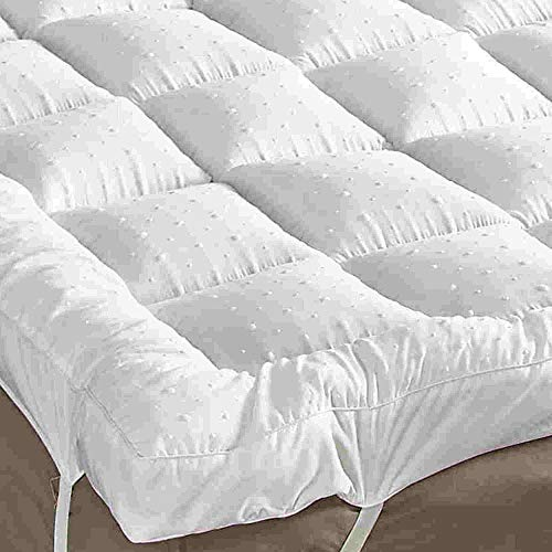 rejuvopedic New Double Size Microfibre Bed Mattress Topper Protector, Box Stitched & Elasticated Corner Straps