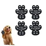 VALFRID Protezioni Zampa di Cane Antiscivolo Traction Pad 24 Pezzi,USA e Getta Autoadesivo Resistente Cane Calze Scarpe per Cani Sostituzione XXL