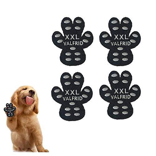 VALFRID Hundepfote Hundepfotenschutz Robuste Anti-Rutsch-Traktionspads, 24 Stück Pfotengriffe für Hartholzböden, strapazierfähig rutschfest,Selbstklebende, Einweg-Hundeschuhe Sockenersatz XXL