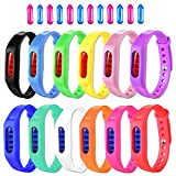 BuggyBands Mosquito Repellent Bracelet 12 Pack Natural Mosquito Repellent Band Safe for Kids Adults Waterproof Mosquito Repellent Wristband Indoor Outdoor Protection UP to 720Hrs (12 Extra Refills)