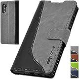 elephones® Handyhülle für Samsung Galaxy Note 10 Hülle - Kompatibel mit Galaxy Note 10 Schutzhülle Handy-Tasche Flip Case Cover Grau