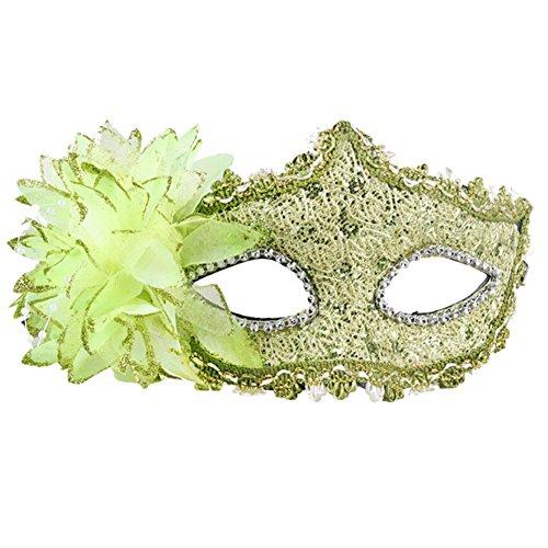 Belle vénitienne Jolie Masquerade Masque des yeux Fancy Dress Accessoire Vert