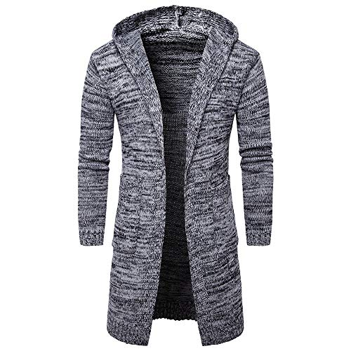 Luckycat Neuer Herren Slim Fit Kapuzenpullover Strickjacke Fashion Cardigan Lange Trenchcoat Jacke Mode 2018