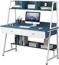 LJBH Computer desk, desktop table, simple modern bedroom home simple bookshelf table combination, writing desk office smal...