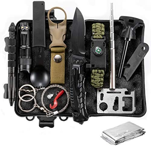 Survival Kit 12 in 1 Gifts for Men Dad Husband Fathers Day Fishing Hunting Birthday Gifts Ideas product image