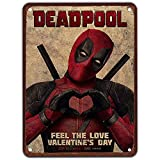 KUSTOM FACTORY - Placa de Acero Deadpool Marvel