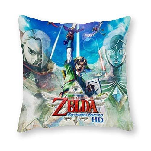 The Legend of Zelda - Cuscino per cuscino pop art, in tela, per letto singolo, senza imbottitura, 40 x 40 cm (solo fodera)