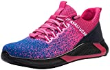 UCAYALI Zapatos de Seguridad con Punta de Acero para Mujer Zapatillas de Trabajo Puntera Reforzada Calzado de Protección Industria Construcción - Cómodos Ligeros y Antideslizantes(Rosa, 37)