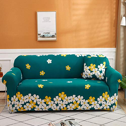 Protector de sofá con Estampado 1 Plaza, Fundas de sofá de Esquina Fundas de sofá universales para Sala de Estar, Funda de sofá elástica Toalla Funda de sofá de Esquina 90-140cm L
