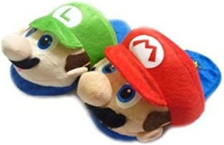 Super Mario (Mario & Luigi) Kids Slipper Set One Size Fits All up to 9""