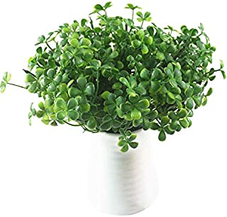 Artificial Plant DIY Four Leaf Clover Artificial Greenery Fake Plant for Home Garden Office Store Decoration