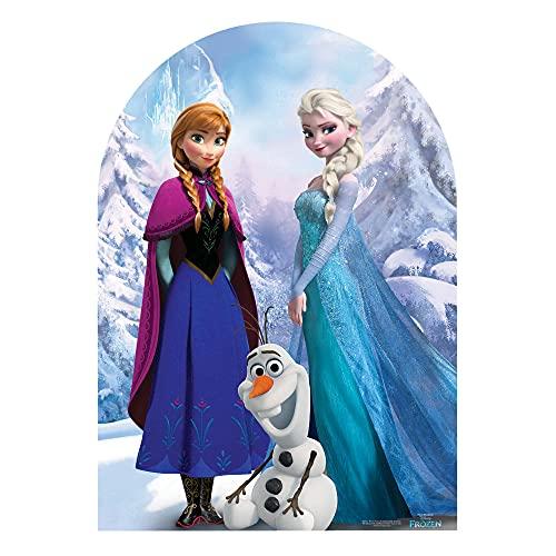 STAR CUTOUTS Princess SC761 Figurine Disney La Reine des Neiges pour Photos d'enfant Anna et Elsa pour décorations, Accessoires, Toiles de Fond et Anniversaires, STSC761, Multicolore, 3 Ans