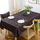 NHhuai Cubierta de Mesa de Simples Adecuado para la decoración de cocinas caseras, Varios tamaños Tela Escocesa Impermeable de Hilo de poliéster teñido en Hilo