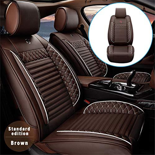 Handao-US Fundas de asiento de coche para Porsche Panamera de 2 asientos con protección impermeable para todo tipo de clima, fácil de instalar (compatible con airbag), café