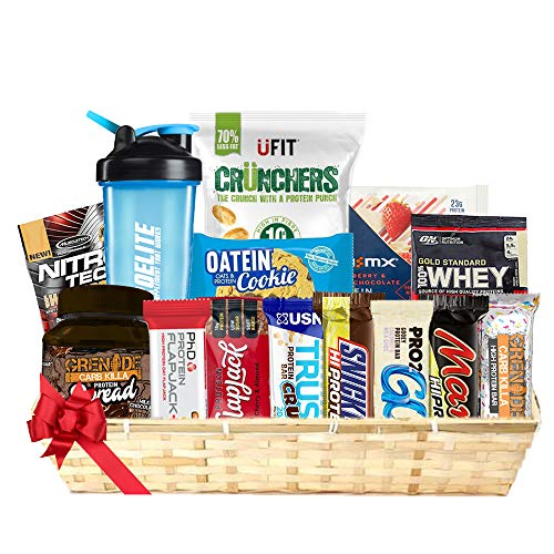 Christmas Gift Hamper Collection (High Protein Bars + Cookies + Protein Samples + Protein Crisp/Chips + Diet Bars + Protein Spread + Protein Cluster) Dr Zaks, PhD, Grenade, Mars, Bounty, Snicker