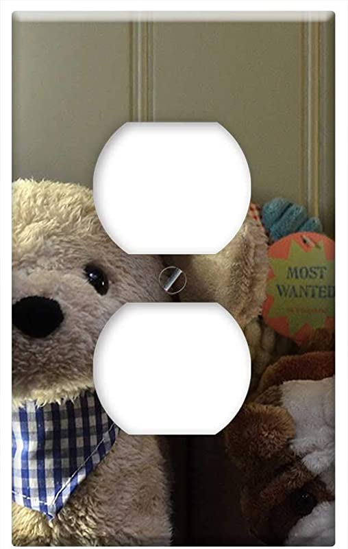 Switch Plate Outlet Cover Teddy Bear Bears Stuffed Animals Teddy Bear Toys