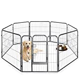 Speedwellstar altezza 80 cm nero 8 Side Large Pet Pen Whelping Play metal Dog Crate Cage Run Heavy Duty