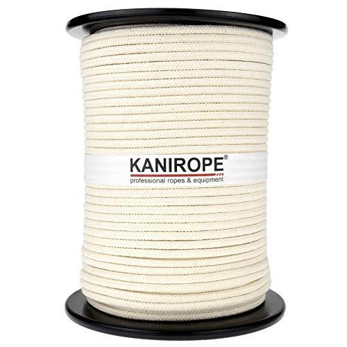 Kanirope® Baumwollseil COBRAID 6mm 100m Farbe Cremig Weiß 16-fach geflochten