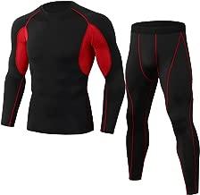JJZZ Thermo-Unterwäsche für Herren Männer Atmungsaktiv Langarm Sportbekleidung Fitness Gym Kleidung Kompression MännlichenBodybuilding Lauf Yoga Set Sport Anzug