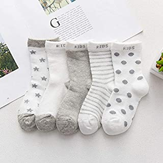 Lejia, 5 Pares Primavera Verano Delgadas Malla Calcetines for Chicos, Chicas Lindas de los niños Animales calcetín Fino de bebé recién Nacido Calcetines Cortos de 0 a 7 años