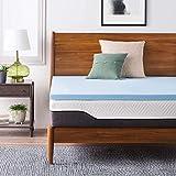 FluffyCloud 2 inch Gel Memory Foam Mattress Topper for Super King Size Bed