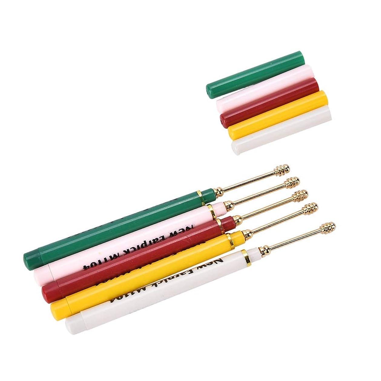テーブルを設定するバイアス授業料ZHQI-GH 1ピースキュレットスクリューリムーバースティッククリーナーピック耳ツールワックス耳かきヘルスケアツールアクセサリーランダムカラー 17 (色 : Multi-colored)