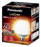 LED電球 口金直径26mm 電球60W形相当 電球色相当(5.8W) 一般電球・ボール電球タイプ 95mm径 屋外器具対応 LDG6LG95W