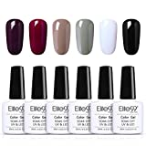 Elite99 Esmaltes Semipermanentes de Uñas en Gel UV LED, 6pcs Kit de Esmaltes de Uñas 10ml 006