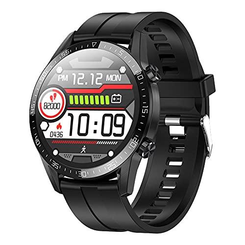 Pulsera Inteligente Temperatura Corporal natación frecuencia cardíaca presión Arterial oxígeno-Silicona Negra LKXL