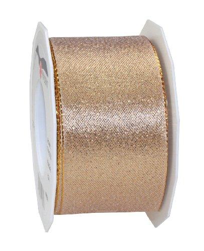 C.E. Pattberg WIEN Geschenkband gold, 20 m Geschenkband zum Einpacken von Präsenten, 60 mm Breite, Zubehör zum Dekorieren & Basteln, Dekoband für Geschenke
