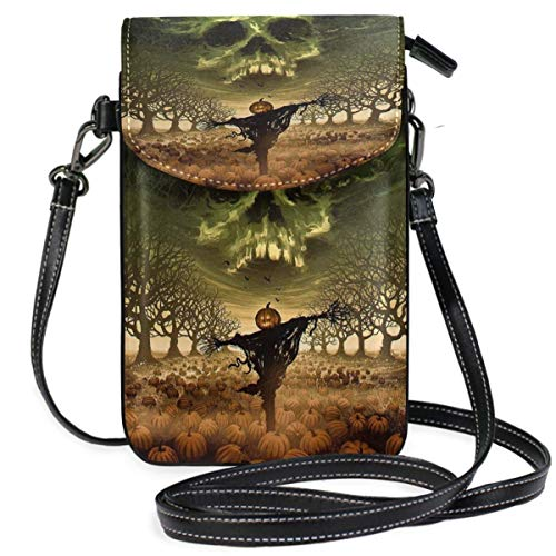 XCNGG Halloween Cell Phone Purse Wallet for Women Girl Small Crossbody Purse Bags