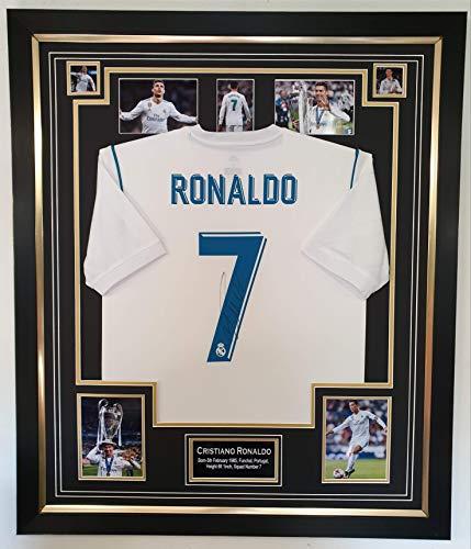 www.signedmemorabiliashop.co.uk Cristiano Ronaldo signiertes und gerahmtes Trikot von Real Madrid