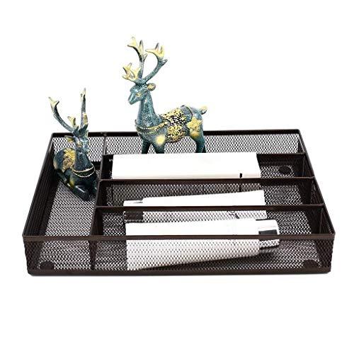 Besteckkasten mit 5 Fächern, Netz-Besteckkasten, Küchen-Organisation/Besteck-Aufbewahrung, Küchenutensilien, Bestecktablett, 32 x 24 cm