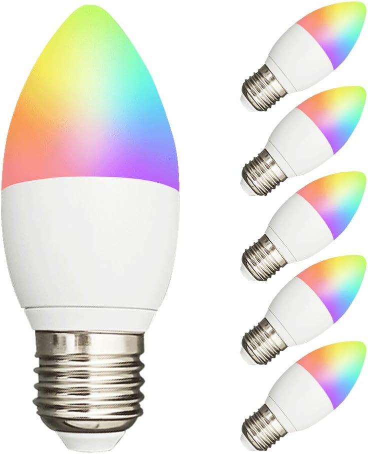 Benexamrt Max 67% OFF Tuya Mesa Mall Zigbee 3.0 Smart Candle Bulb Led 5W E26 Light E27