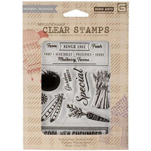 Basic Grijs Kruiden & Honing Heldere Postzegels Door Hero Arts-Cool Als een Komkommer