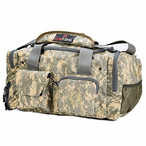 "King Kong Junior Kong Original Nylon Gym Bag - Heavy Duty and Water-Resistant Duffle Bag - Military Spec Nylon- Heavy Duty Steel Buckles - 18"" x 11"" x 11"" - Digital Camo"