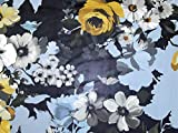 John Kaldor Floral Print Chiffon Kleid Stoff gelb &