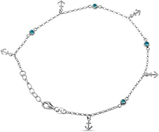 Best sterling silver charm anklet Reviews