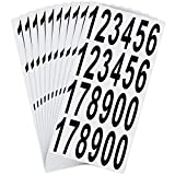 LUTER 10 Sheets Mailbox Numbers Stickers Waterproof Self Adhesive Vinyl Numbers Stickers Decals for Mailbox Signs, Residence, Window, Door, Address Number, Indoor or Outdoor (3 Inch, Black on White)