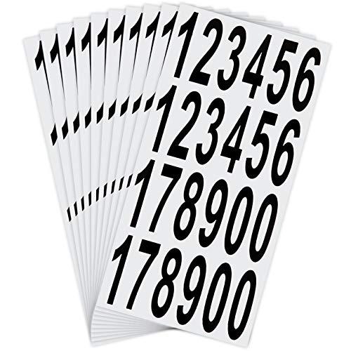 LUTER 10 Blatt Briefkasten Nummern Aufkleber Wasserdichte Selbstklebende Aufkleber für Briefkasten, Haus, Tür, Adressnummer, Innen oder Außen (7,5 cm)