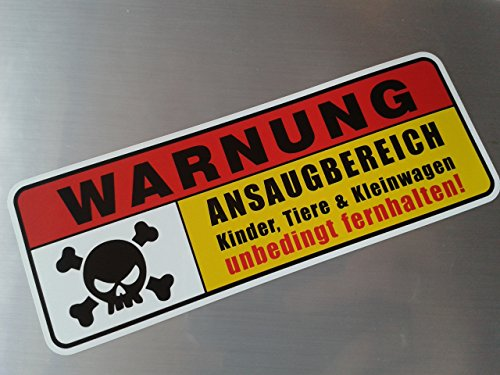 folien-zentrum Warnung Ansaugbereich Shocker Hand Auto Aufkleber JDM Tuning OEM Dub Decal Stickerbomb Bombing Fun w