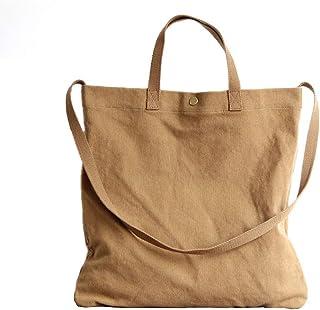 Ulisty Damen Grosse Kapazität Bio Baumwolle und Leinen Schultertasche Mode Handtasche Beiläufig Umhängetasche Khaki