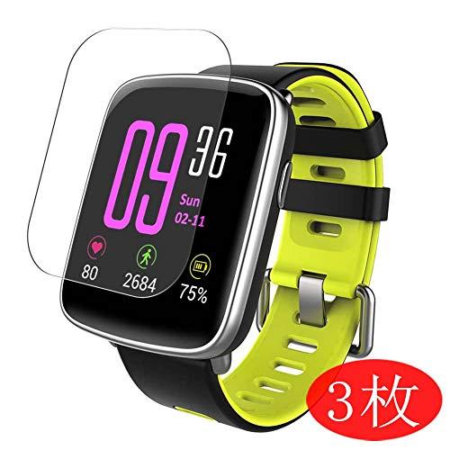 VacFun 3 Pezzi Trasparente Pellicola Protettiva per YAMAY SW018 1.54' Smart Watch Smartwatch, Screen Protector Protective Film Senza Bolle e Auto-Curativo (Non Vetro Temperato) Protezioni Schermo