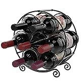 Nuovoware Botellero para 7 Botellas de Vino, Portabotellas de Pie de Hierro...
