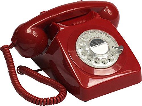 Telephone Retro Vintage 70s Rouge
