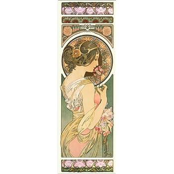 Rose de Alfons Mucha Reproduction Haut de Gamme White Star Nouveau Poster Poster 30 x 90 cm: Moet /& Chandon