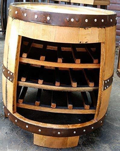 Gerecyclede Schotse Eiken Whisky Vat Tuintafel | Wijnrek