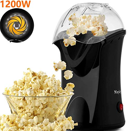 Find Bargain Popcorn Popper, Hot Air Popcorn Popper 1200W No Oil Popcorn Maker with Measuring Cup an...